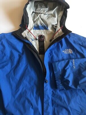 The North Face Mens Hyvent DT Large Blue Hoodie Windbreaker Multi Purpose Jacket