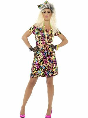 1980s Pop Star Wild Child Ladies Fancy Dress Womens Costume Outfit Party Animal