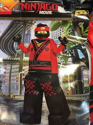 NWT LEGO NINJAGO MOVIE BOY'S KAI  MINI FIGURE DELUXE COSTUME -HALLOWEEN