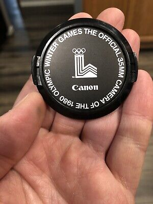Original Canon 52mm Front Lens Cap (1980 Olympic Winter Games)EX FREE SHIPPING