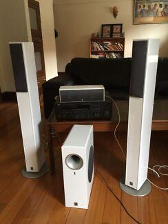 Yamaha amp and Yamaha speakers 250