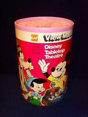 Vintage•Disney•GAF•View-Master•Tabletop Theatre•CANNISTER!•NO Projector•NO Reels