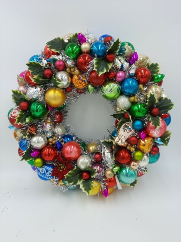Old World Charm Glass Christmas Ornament Wreath
