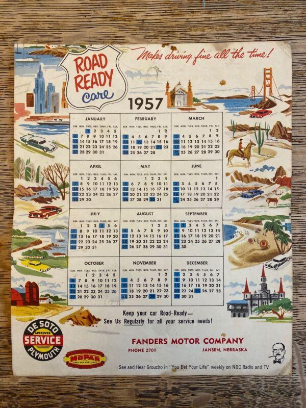 Vintage DeSoto Firesweep Brochure Mailer Calendar 1957