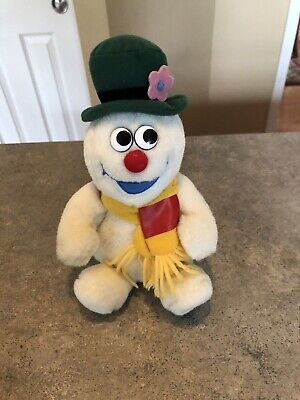 Vintage Gemmy Animated Frosty The Snowman Plush—Works