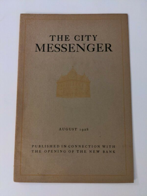Salem, New Jersey: 1928 local history item, City National Bank book w/ photos NJ