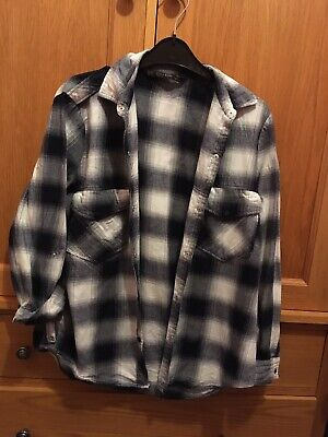 Zara Womens Medium Size 8 10 Blue White Check Shirt Worn Once