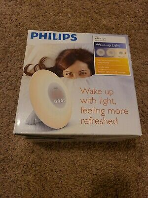 Philips Wake Up Light Sunrise Simulation Alarm Clock Radio HF3500 HF3500/60 NEW