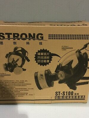 Strong St-s100-3 Gas Mask Respirator Dual Filter Full Face Mask Never Used