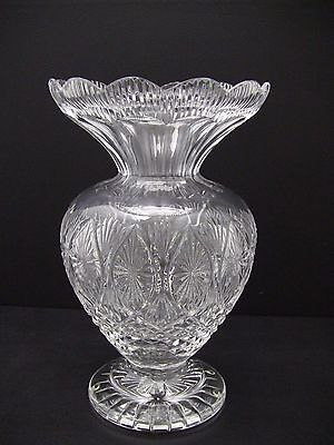 Beautiful Waterford Crystal Master Cutter Vase 12""