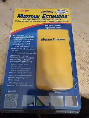 Material Estimator Calculatorindustries Construction Calculator Hand Tool