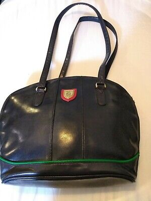 Vintage Jane Shilton Clubhouse Blue Leather Shoulder Bag