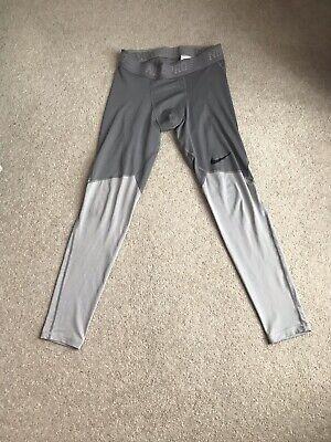 men's Nike Dri-Fit Pro Leggings Grey Medium