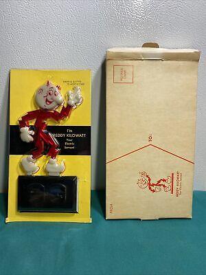 Reddy Kilowatt Vintage Business Card Holder Glow-in-the-Dark circa 1961 Rare