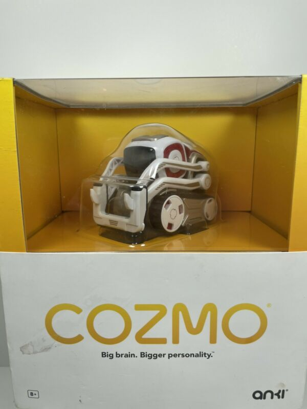 Anki 000-00057 Cozmo Robot Toy - White WORKS AMAZING BUT NO BLOCKS!!