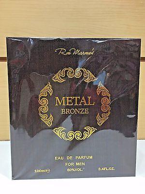 Metal Spray Cologne (Metal Bronze Ron Marone's Men Cologne EDP Spray 3.4 oz / 100 ml NIB Sealed)