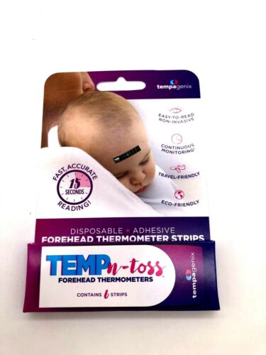 Disposable Forehead Thermometer Strips One Time Use (12 Count Total)