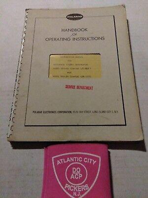 Polarad Model Msg-1r Msg-2r Microwave Signal Generator Handbook Of Oper Inst