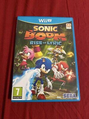 Brand New Sealed Sonic Boom: Rise Of Lyric (Nintendo Wii U, 2014) - PAL