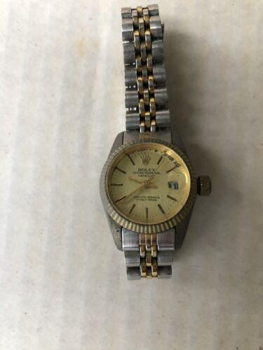 Vintage rolex oyster perpetual datejust Women's Watch See Description