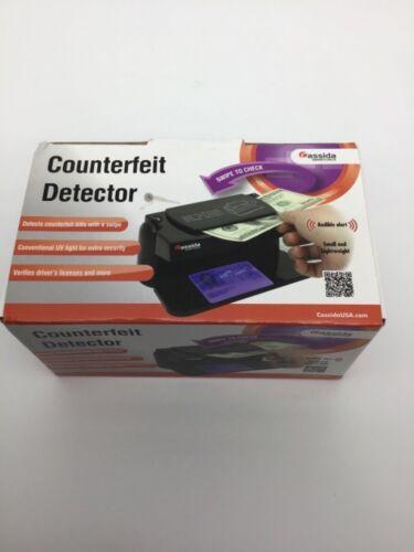Counterfeit money detection machine Cassida Smartcheck verify bills and license