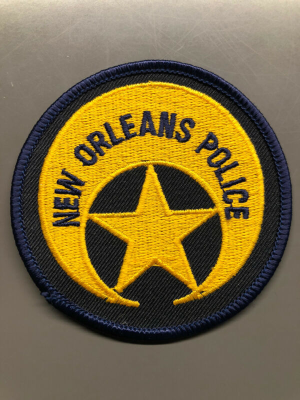 New Orleans Louisiana Police Patch ~ New Condition ~ Black And Gold