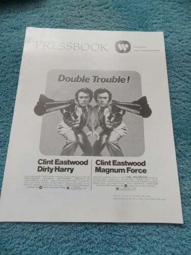 DIRTY HARRY & MAGNUM FORCE(1975)CLINT EASTWOOD ORIGINAL PRESSBOOK