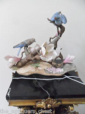 Edward Marshall Boehm Large Mountain Blue Birds Sculpture Upst