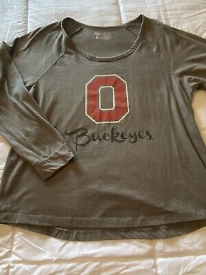 New Women's Size XL X-Large T University Ohio State Buckeyes Gray Shirt Top Ohio State University Top