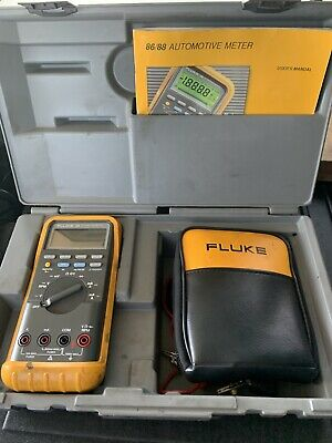 Fluke 88 Automotive Digital Meter Multimeter Kit Case - Free Shipping