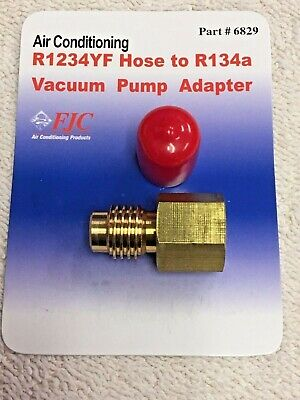 R1234yf Hose To R134a Vacuum Pump Adapter Fitting Fjc Part 6829