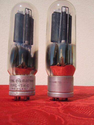 VT4C TUBE GENERAL ELECTRIC GE ~ RCA RADIOTRON 211 TRANSMITTER AMPLIFIER PAIR DIY