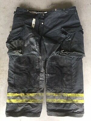 Firefighter Janesville Lion Apparel Turnout Bunker Pants 46x28 07 Black Costume