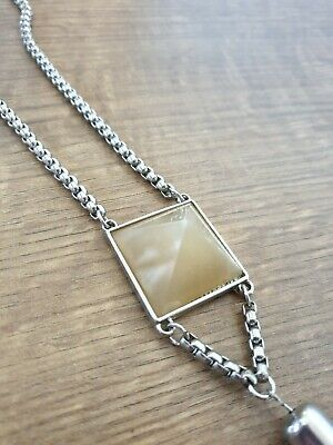 Used, Statement Crystal Pyramid Necklace Gemstone Jewellery  for sale  Shipping to South Africa