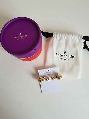 NEW BOXED KATE SPADE  LARGE GOLD DAINTY SPARKLERS REVERSIBLE  EARRINGS