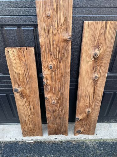 "Reclaimed Mushroom Wood Planks Very Rustic 8"" Wide Boards"