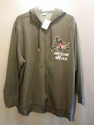 Damen DISNEY SweatShirt-Kaputzen-Jacke in grau MICKEY MOUSE in große Größe 56 (Disney Sweatshirt Damen In)