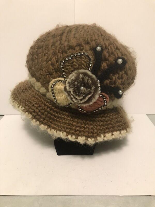 vintage crochet hat Hobo Chic