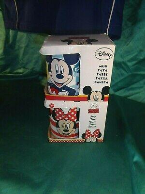 2 große Kakaobecher Kaffeetassen Micky Minnie Maus bunt Porzellan Disney® Mouse ()