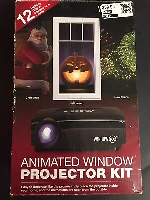 Window FX Animated Window Projector Kit Holiday Haloween Christmas New Years