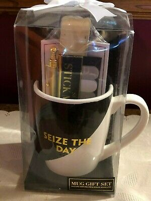 Mug Gift Set Box Large Coffee Tea Cup Stationary Office Organizer Pen Father Dad