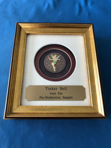 TINKER BELL  Disney Pin  IN FRAME Pre Production SAMPLE Core Pin Very RARE PP