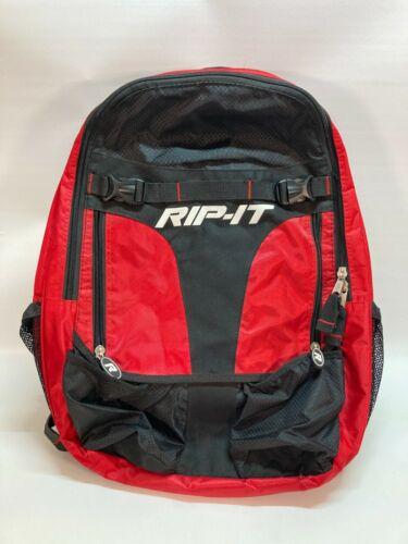 RIP-IT Player Baseball Softball Backpack - Softball Equipment Bag, Red