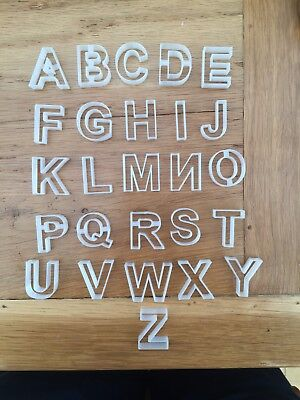 Alphabet Letter Icing Fondent Cutters Cake Decorating