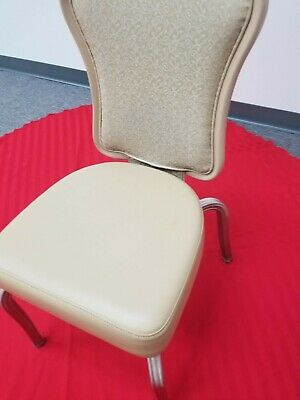 Infanti Beige Two-tone Vinyl Seat Banquet Ballroom Chair