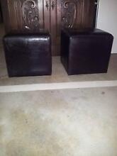 DARK BROWN LEATHER FOOT STOOLS Surfers Paradise Gold Coast City Preview