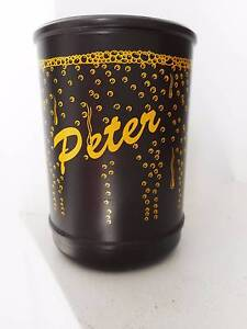 Peter personalised stubby bottle can cooler holder brown yellow Carindale Brisbane South East Preview