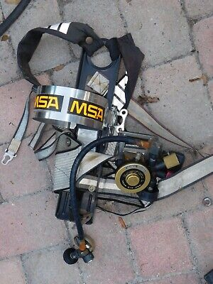 Msa Scba Backpack - Bell Alarm Control Air Mask Pressure Modules Firefighter 3