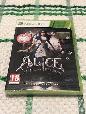 ALICE MADNESS RETURNS Xbox 360 NUOVO SIGILLA.PAL ITA X360 Copertina ITA Completo