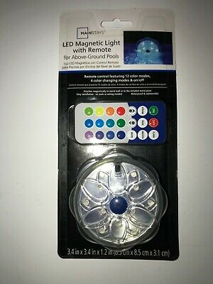 Mainstays LED Magnetic & Submersible Pool Wall Light With Remote Control